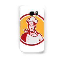 Baker Chef Cook Bust Front Circle Retro Samsung Galaxy Case/Skin