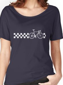 Bike Stripes Peugeot (White Retro) Women's Relaxed Fit T-Shirt