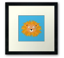 Sweating lion head Framed Print