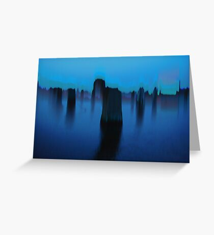 BLUE BRUSH - 9 Greeting Card