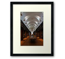 Library arches Framed Print