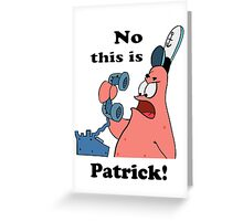 This is Patrick Greeting Card
