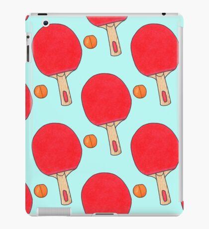 Hand drawn watercolor ping pong racket and ball iPad Case/Skin