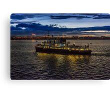 Royal Iris Mersey Ferry at twilight Canvas Print