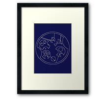 """I Don't Shave For Sherlock Holmes"" Circular Gallifreyan (White) Framed Print"
