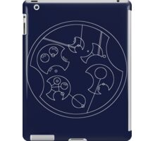 """I Don't Shave For Sherlock Holmes"" Circular Gallifreyan (White) iPad Case/Skin"