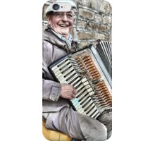 West Yorkshire Street Accordion Player iPhone Case/Skin
