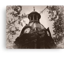 """The Top Of """"Coweta County Courthouse"""" Canvas Print"""