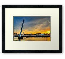 Millennium bridge Swansea Framed Print