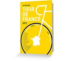 My Tour de France Minimal poster Greeting Card