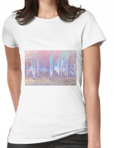 Autumn woods color psycho Womens Fitted T-Shirt