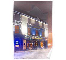 An Irish Pub On A Winter Night In Galway Ireland Poster