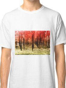 Autumn woods color bicolor digital Classic T-Shirt