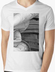 Stacked Sails Mens V-Neck T-Shirt