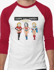 Halloween Costume Oh Boy ? Men's Baseball ¾ T-Shirt