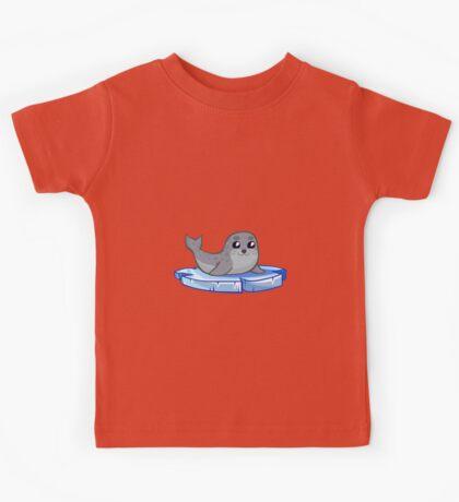 Cute baby seal cartoon Kids Tee