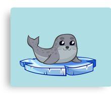 Cute baby seal cartoon Canvas Print