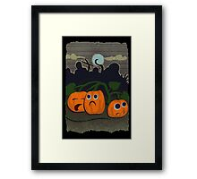 Pumpkin patch massacre Framed Print