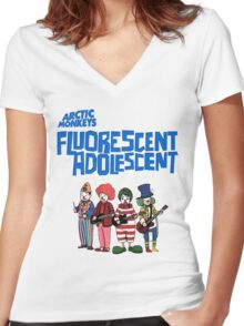 Fluorescent Adolescent - Arctic Monkeys Women's Fitted V-Neck T-Shirt