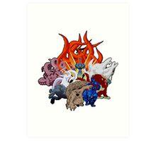 Tailed Beasts Art Print