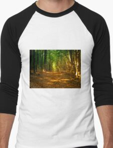 In the woods colorful Men's Baseball ¾ T-Shirt