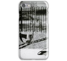 A swing at the park. iPhone Case/Skin