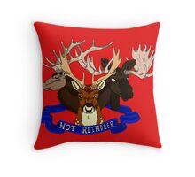 Not Reindeer Throw Pillow