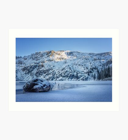 Bright and Early Winter Snow photograph Art Print