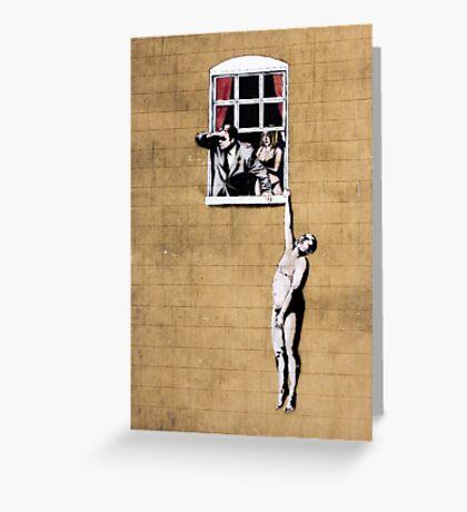 Banksy - Park Street Indiscretion Greeting Card