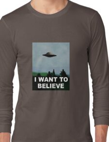 The X Files - I want to believe  Long Sleeve T-Shirt