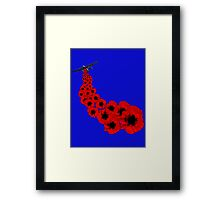 Poppy day Remembrance Framed Print