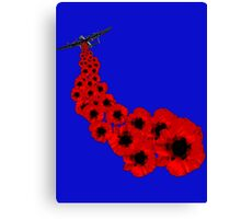 Poppy day Remembrance Canvas Print