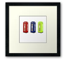 The Phone Booths Framed Print