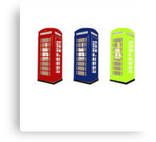 The Phone Booths Canvas Print