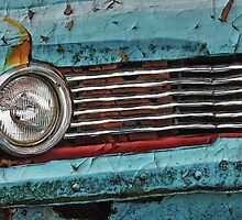 Old Plymouth Car in scrap yard by Barblander
