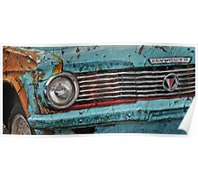 Old Plymouth Car in scrap yard Poster