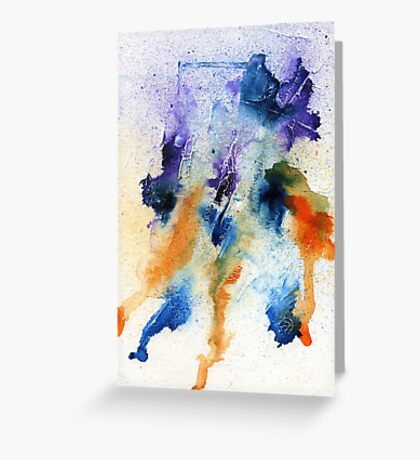 Minimalist Abstract ink Painting Greeting Card