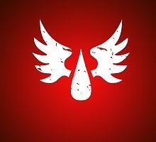Blood Angels - Sigil - White - Warhammer by moombax
