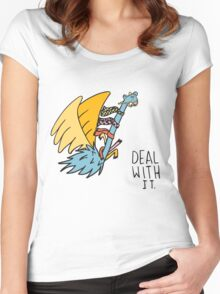 Deal With It Illustration Women's Fitted Scoop T-Shirt