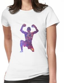 Muay Thai Fighter Colorful Womens Fitted T-Shirt