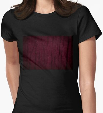 Claret grunge cloth texture Womens Fitted T-Shirt