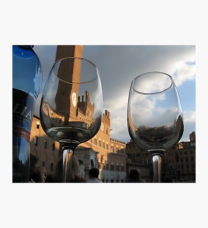 A Drink in Tuscany Photographic Print