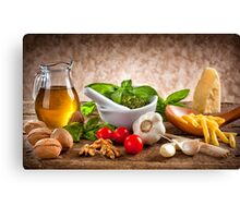 Ingredients for Pesto Canvas Print