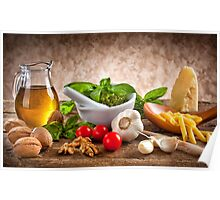 Ingredients for Pesto Poster