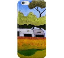 Australian Backyard with Caravan iPhone Case/Skin