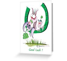 Good Luck by Tony Fernandes Greeting Card