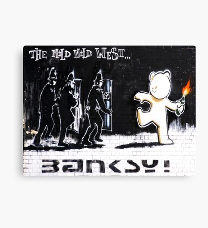 Banksy - The Mild Mild West Canvas Print