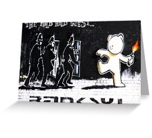 Banksy - The Mild Mild West Greeting Card