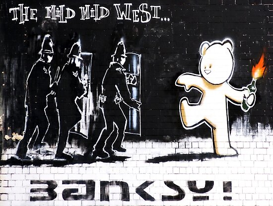 Banksy - The Mild Mild West by saracobbs