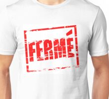 Ferme red rubber stamp effect Unisex T-Shirt